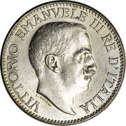 ½ rupia - Vittorio Emanuele III – avers
