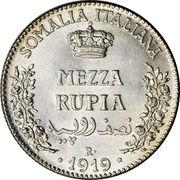 ½ roupie - Vittorio Emanuele III – revers