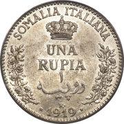 1 roupie - Vittorio Emanuele III – revers