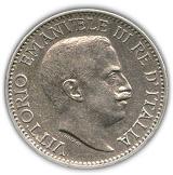 ¼ rupia - Vittorio Emanuele III – avers