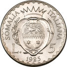 5 lire - Vittorio Emanuelle III – revers