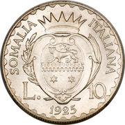 10 lire - Vittorio Emanuele III – revers