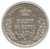 ¼ roupie - Vittorio Emanuele III – revers