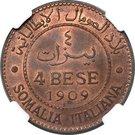 4 bese - Vittorio Emanuele III – revers