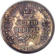 ¼ roupie - Vittorio Emanuele III (Essai) – revers