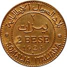 2 bese - Vittorio Emanuele III – revers