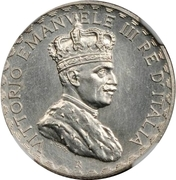 5 lire - Vittorio Emanuelle III (Essai) – avers