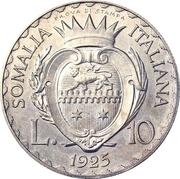 10 lire - Vittorio Emanuelle III (Essai) – revers