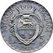 5 lire - Vittorio Emanuelle III (Essai) – revers