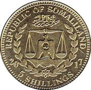 5 Shillings (Macaca Nemestrina) – avers