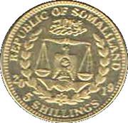 5 Shillings   (Beagle) – avers