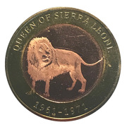 2500 Shillings (Elizabeth II 90th Anniversary -  Queen of Sierra Leone) -  revers