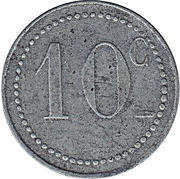 10 centimes (Chambre de commerce) – revers