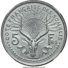 5 francs (Piedfort Essai) – revers