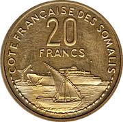 20 francs (Piéfort Essai) – revers