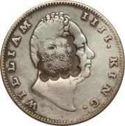1 roupie des Indes contremarquée (William IV) – avers