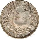 1 roupie des Indes contremarquée (William IV) – revers