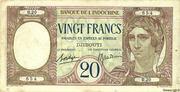 20 Francs (dark blue text) – avers
