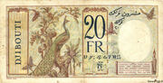 20 Francs (dark blue text) – revers