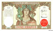 100 Francs (red overprint) – avers