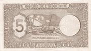 5 francs -  revers