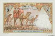 50 Francs (Côte Française des Somalis) – revers