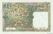 100 Francs (Côte Française des Somalis) – avers
