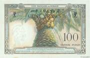 100 Francs (Côte Française des Somalis) – revers