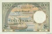 500 Francs (Côte Française des Somalis) – avers