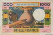 1 000 Francs (Côte Française des Somalis) – avers