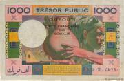 1 000 Francs (Côte Française des Somalis) – revers