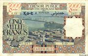 5 000 Francs (Côte Française des Somalis) – avers