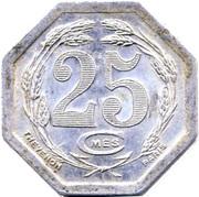 25 centimes (Chambre de commerce) – revers