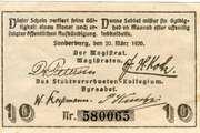 10 Pfennig (Sonderburg) – avers
