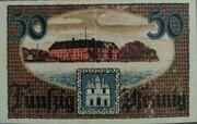 50 Pfennig (Schleswig-Holstein-Sonderburg) – avers