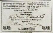 50 Pfennig (Schleswig-Holstein-Sonderburg) – revers