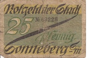 25 Pfennig (Sonneberg) – avers
