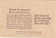 20 Heller (Sonntagberg) – revers