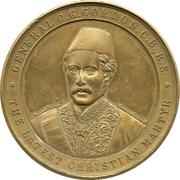 Medal - General C.G. Gordon - The Latest Christian Martyr (gilt) – avers