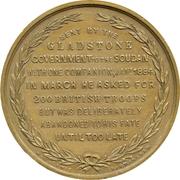 Medal - General C.G. Gordon - The Latest Christian Martyr (gilt) – revers