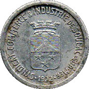 10 Centimes - Syndicat Commerce & Industrie - Soulac / Mer [33] – avers