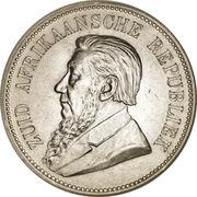 5 shillings (Zuid-Afrikaansche Republiek) – avers