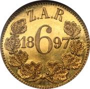 6 pence (Zuid Afrikaansche Republiek, essai) – revers