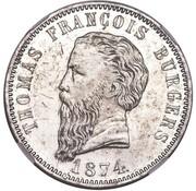 5 shillings (Zuid Afrikaansche Republiek ; essai du Transvaal) – avers