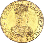 Double Souverain d'Or - Charles II – avers