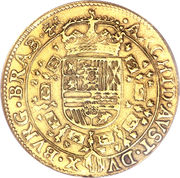 Double Souverain d'Or - Charles II – revers