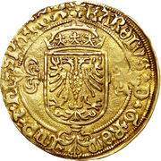 Demi Real d'or - Charles V – avers