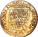 Demi-Real d'Or - Philippe II – revers