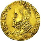 Demi-real d'or- Philippe II – avers