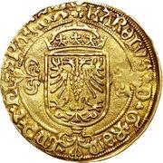 Demi Real d'or - Charles V – avers